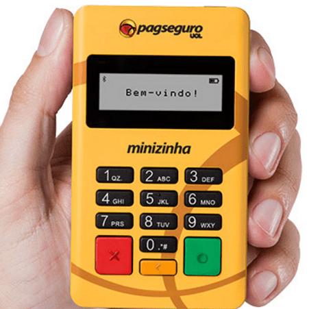 Minizinha PagSeguro   maquininha de Cartões Amarelinha